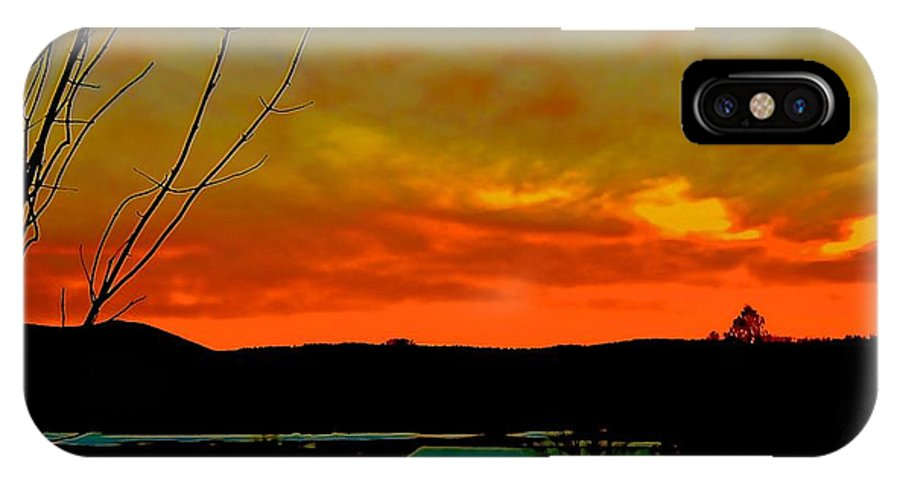 IPhone X Case featuring the photograph Quicksilver Sunset by Elizabeth Tillar