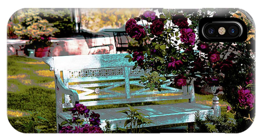 Garden IPhone X Case featuring the photograph Quiet And At Peace by Suzan Madison Casey