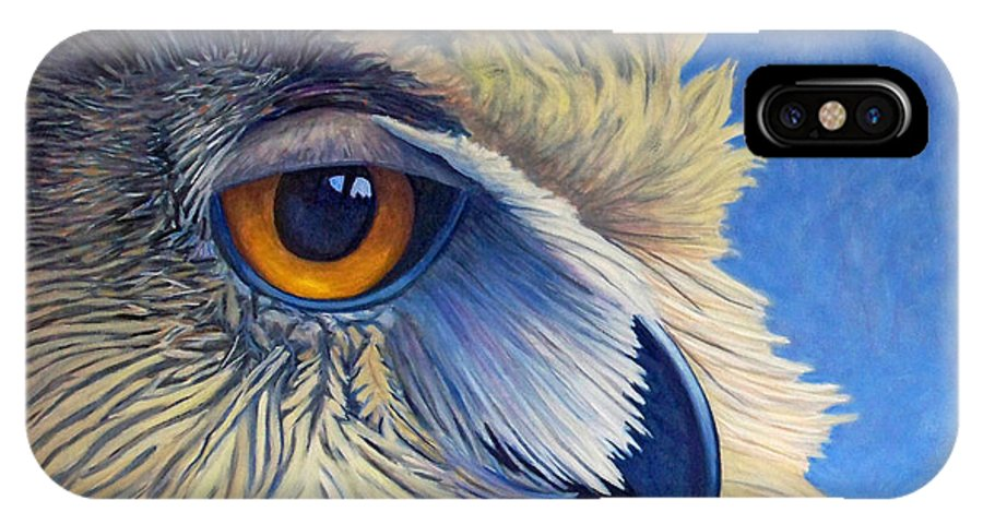 Owl IPhone Case featuring the painting Quiet Joy by Brian Commerford