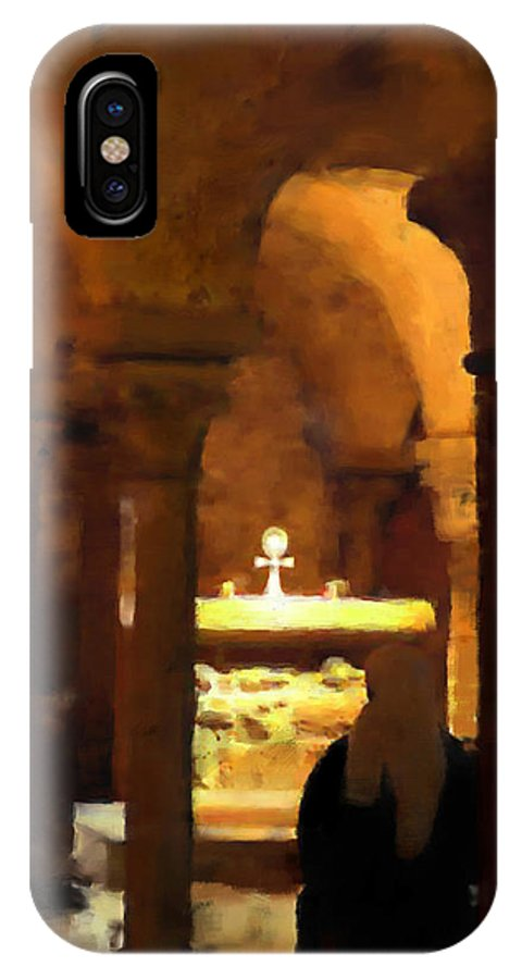 Prayer IPhone X Case featuring the painting Quiet Prayers by Stephen Lucas