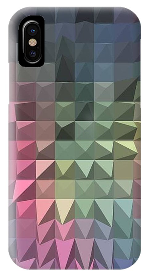 Quilted Image IPhone X Case featuring the painting Quilt by Vickie G Buccini
