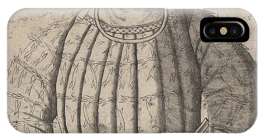 "IPhone X Case featuring the drawing ""el Gran Capitanio"" by Italian 16th Century"