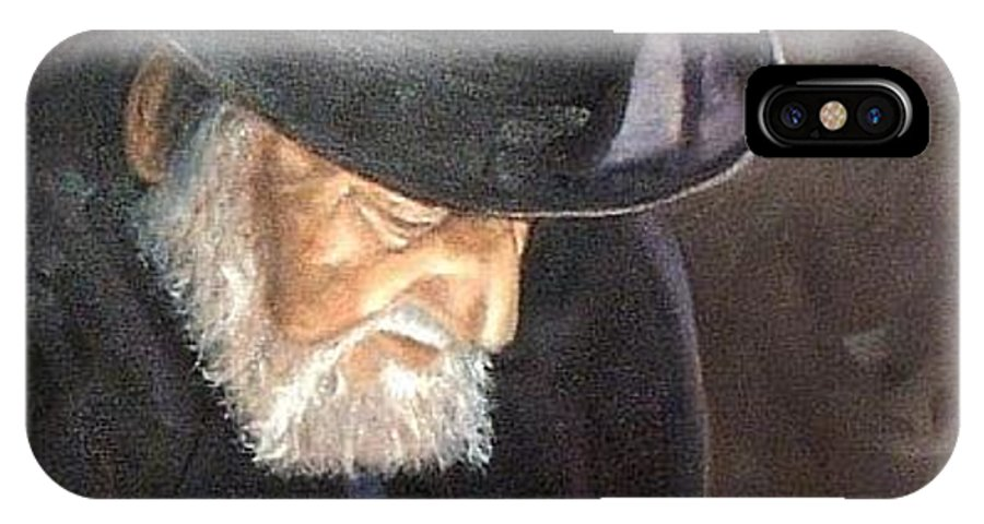 Portrait IPhone Case featuring the painting Rabbi by Toni Berry