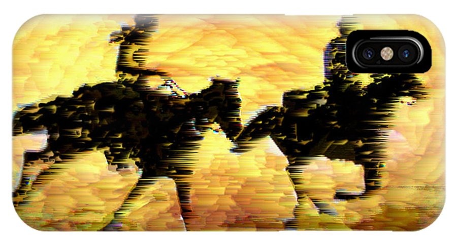 Race Across The Desert IPhone X Case featuring the digital art Race Across the Desert by Seth Weaver