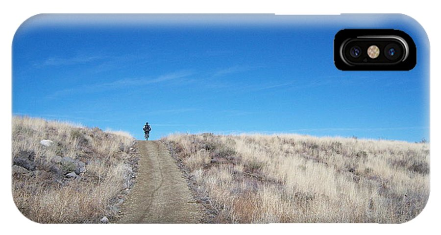 Racing Bike IPhone X Case featuring the photograph Racing Over The Horizon by Heather Kirk