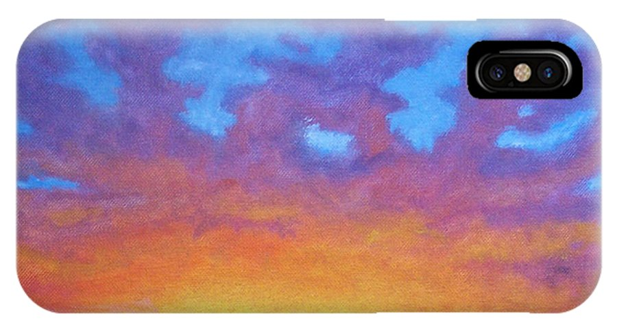 Landscape IPhone X Case featuring the painting Radiance by Brian Commerford