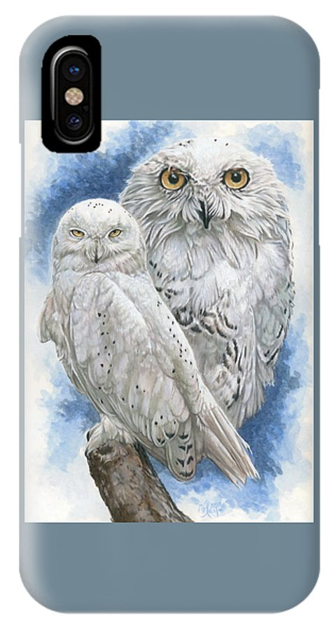 Snowy Owl IPhone X Case featuring the mixed media Radiant by Barbara Keith