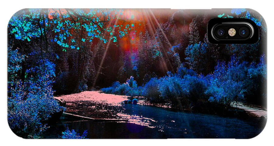 Landscape IPhone X Case featuring the photograph Radiant Energy by Vijay Sharon Govender