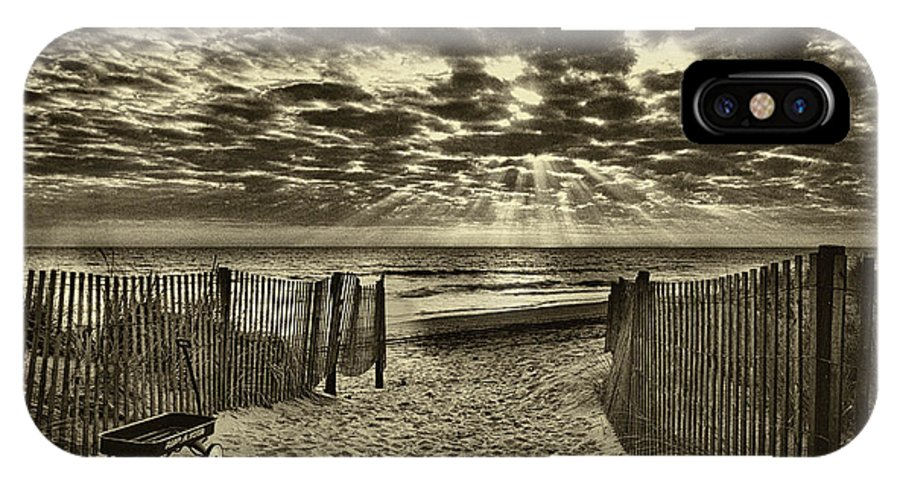 Landscape IPhone Case featuring the photograph Radio Flyer At Dewey Beach by Jack Paolini