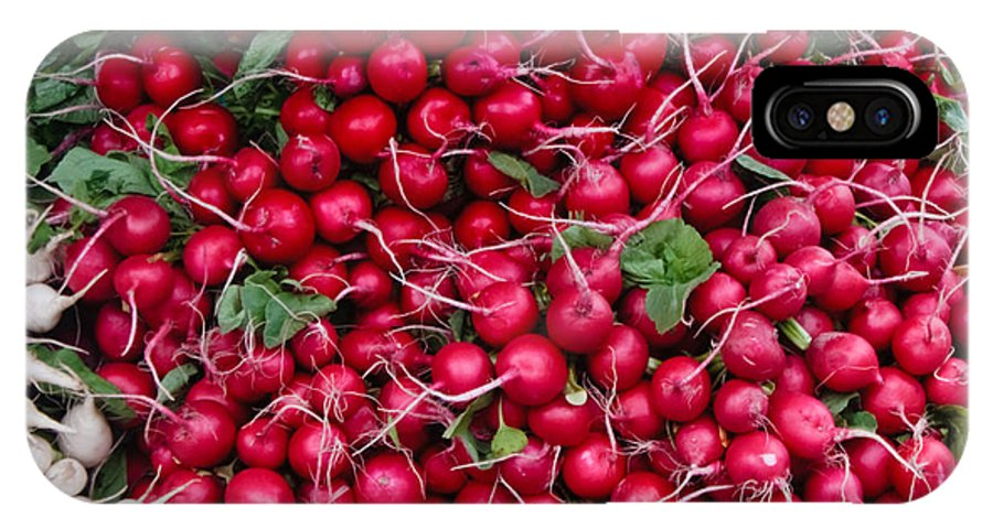 Radish IPhone X Case featuring the photograph Radishes by Thomas Marchessault