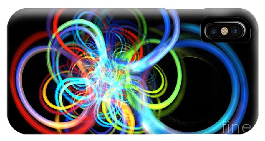 Apophysis IPhone X / XS Case featuring the digital art Radius Rainbow by Kim Sy Ok