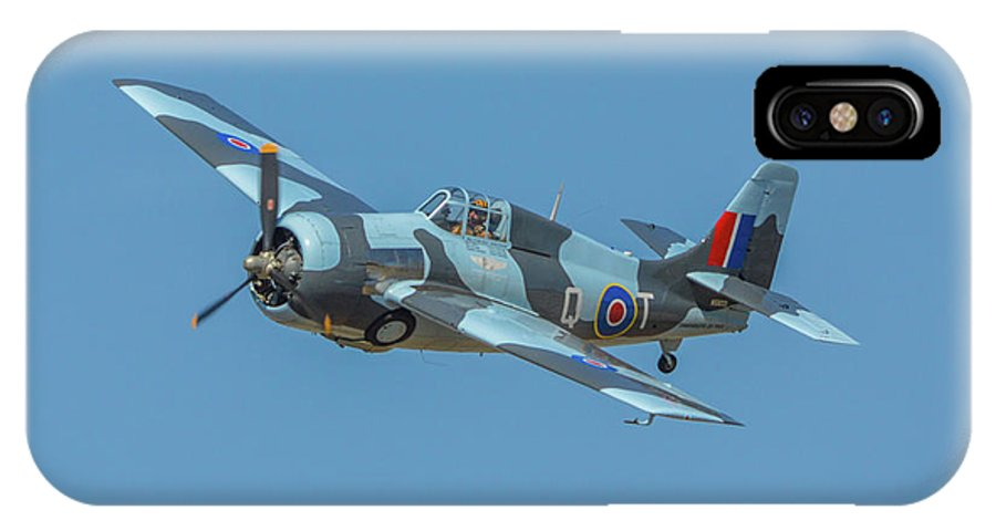 Grumman Gm Fm-2wildcat IPhone X Case featuring the photograph Raf Fm-2 Wildcat by Tommy Anderson