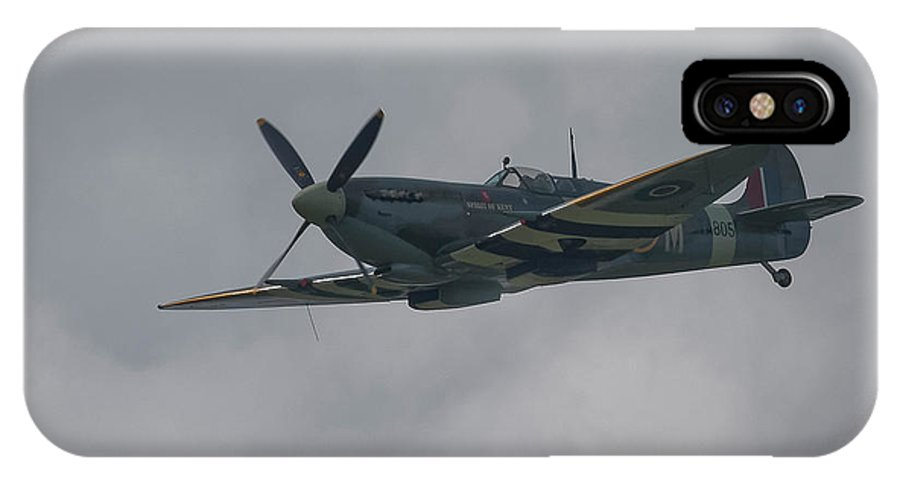 Spitfire IPhone X Case featuring the photograph Raf Spitfire by Philip Pound