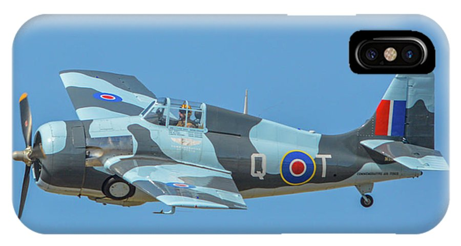 General Motors Fm-2 Wildcat IPhone X Case featuring the photograph Raf Wildcat Fm-2 by Tommy Anderson