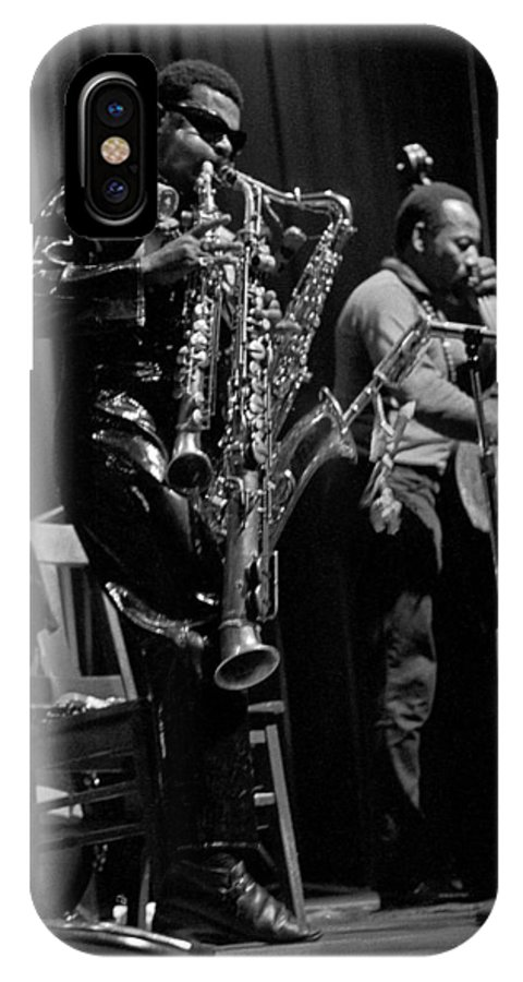Rahsaan Roland Kirk IPhone X Case featuring the photograph Rahsaan Roland Kirk 1 by Lee Santa