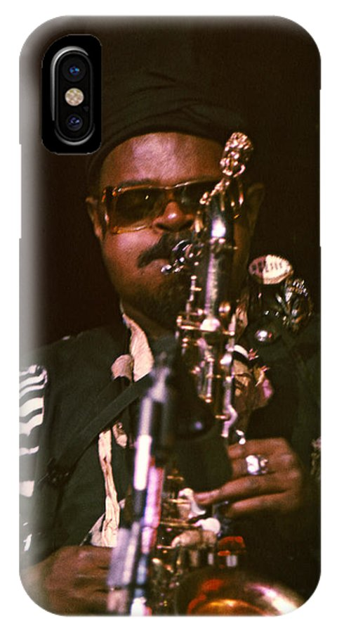 Rahsaan Roland Kirk IPhone X Case featuring the photograph Rahsaan Roland Kirk 3 by Lee Santa
