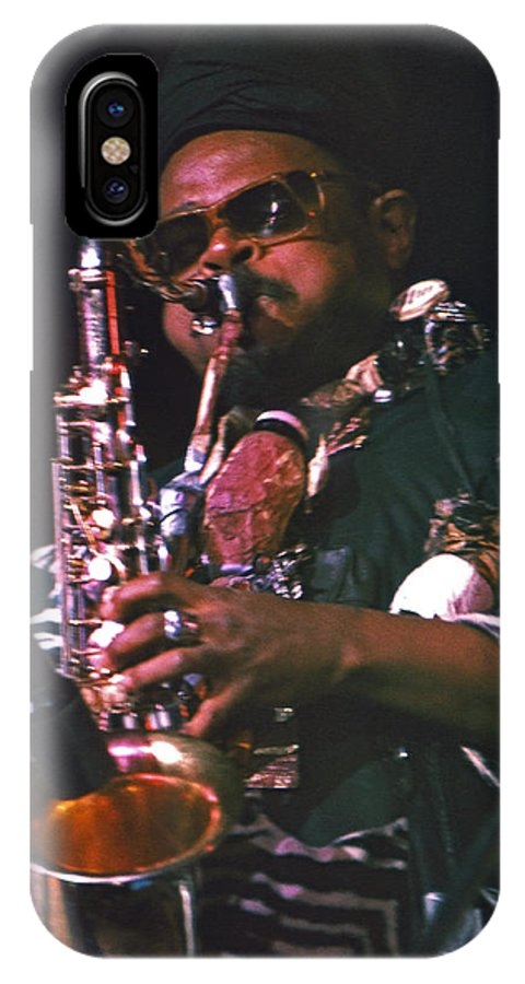Rahsaan Roland Kirk IPhone X Case featuring the photograph Rahsaan Roland Kirk 4 by Lee Santa