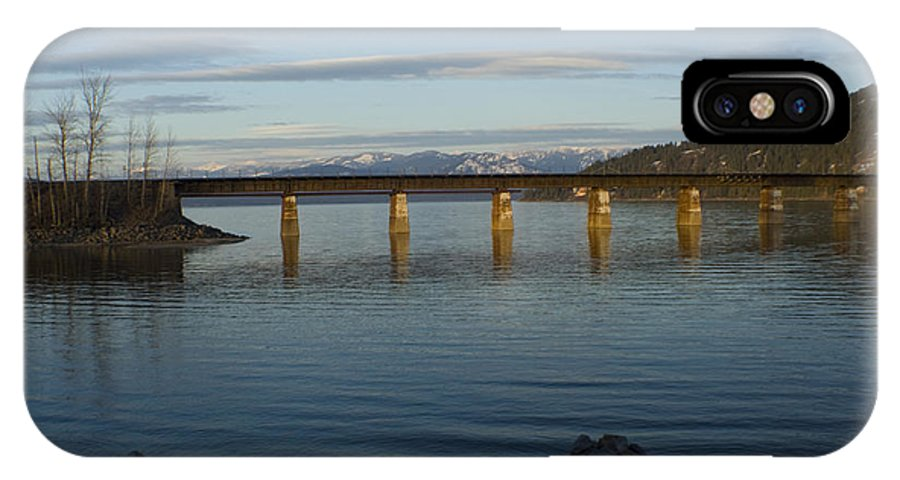 Bridge IPhone Case featuring the photograph Railroad Bridge Over The Pend Oreille by Idaho Scenic Images Linda Lantzy