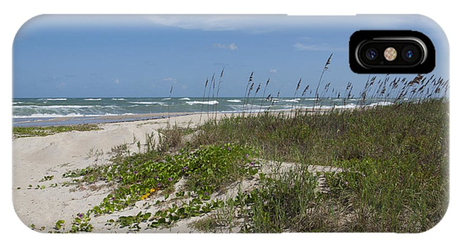 Railroad IPhone X Case featuring the photograph Railroad Vine And Sea Oats On The Atlantic In Florida by Allan Hughes