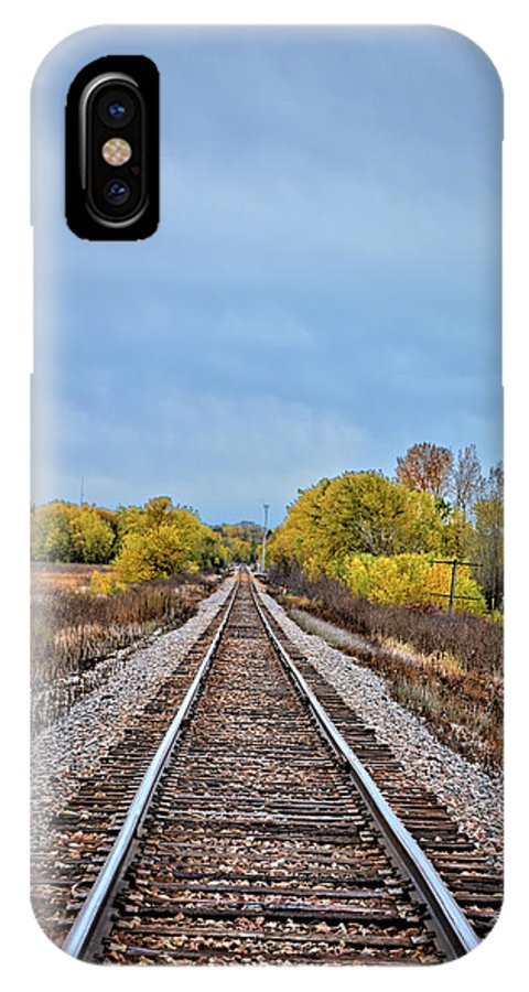 Rails IPhone X Case featuring the photograph Rails To Parkersburg 2 by Bonfire Photography