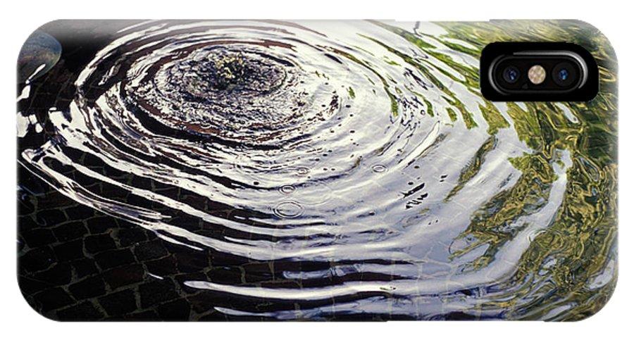 Rain IPhone X Case featuring the photograph Rain Barrel by Carl Purcell