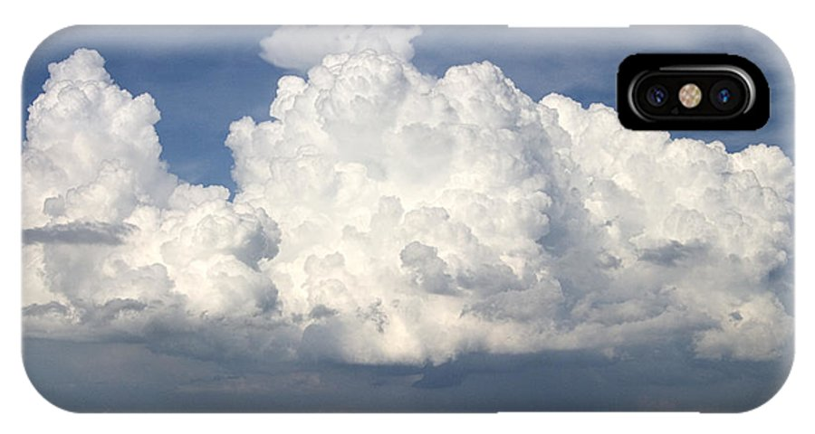 Clouds IPhone X Case featuring the photograph Rain Clouds Over Lake Apopka by Carl Purcell