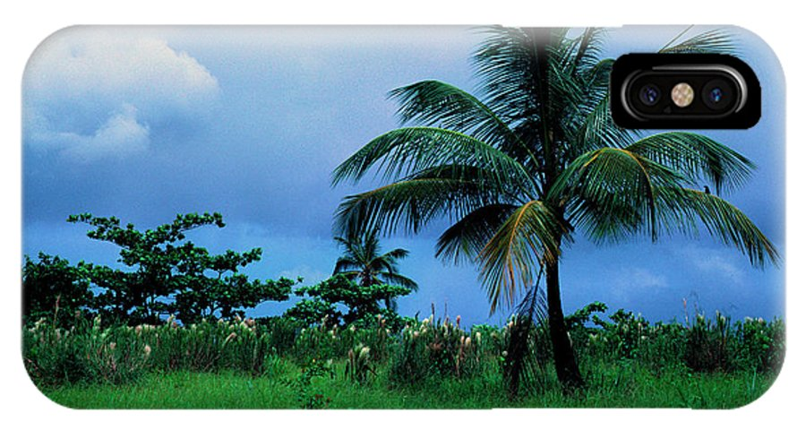 Rain Clouds IPhone X Case featuring the photograph Rain Cloudsover Dominica by Thomas R Fletcher