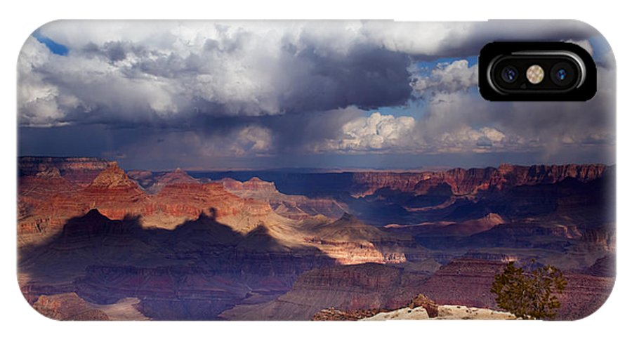 Grand Canyon IPhone X Case featuring the photograph Rain Over The Grand Canyon by Mike Dawson