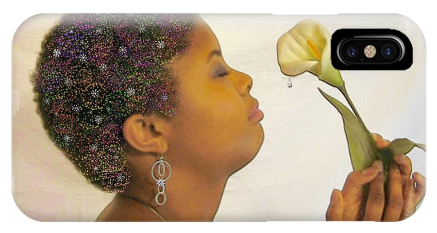 African American IPhone X Case featuring the photograph Rain by Rose Guay