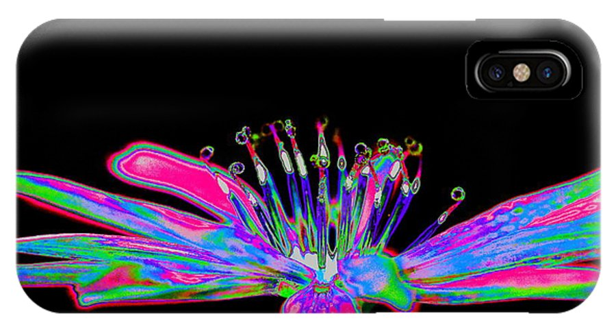 Rainbow IPhone X Case featuring the photograph Rainbow Chicory by Richard Patmore