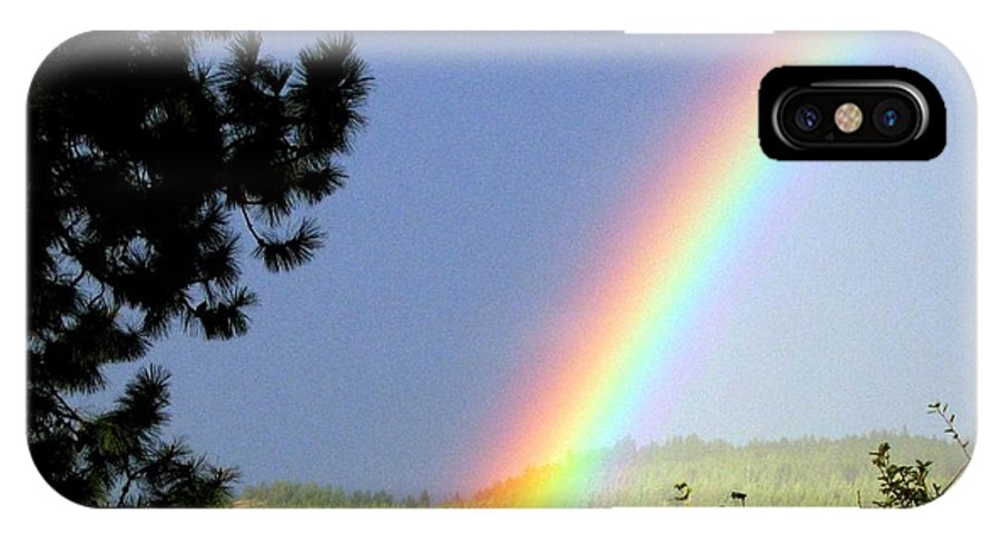 Rainbow IPhone X Case featuring the photograph Rainbow Covenant by Will Borden