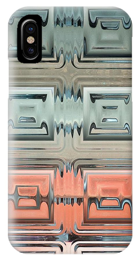 Rainbow IPhone X Case featuring the photograph Rainbow Glass2 by Donna Bentley