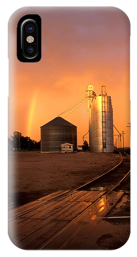 Potter IPhone X Case featuring the photograph Rainbow In Potter by Jerry McElroy