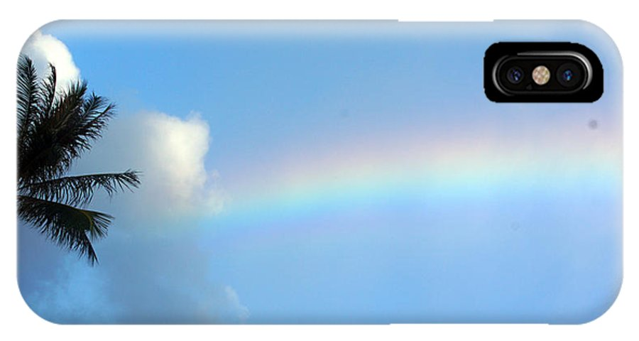IPhone X Case featuring the photograph Rainbow Skies by Todd Hummel