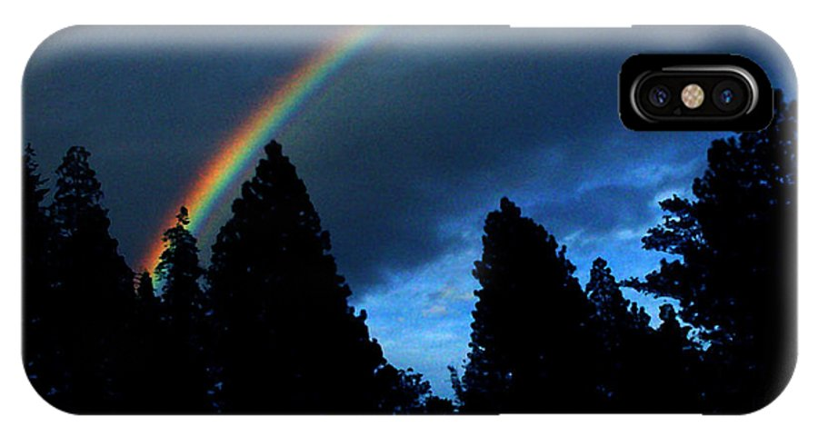 Rainbow IPhone X Case featuring the photograph Rainbow Sky by Peter Piatt