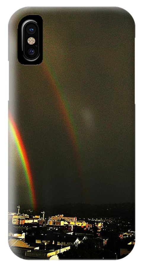 Seattle IPhone X Case featuring the photograph Rainbow by Tim Allen