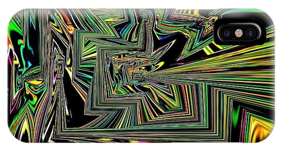 Rainbow IPhone X Case featuring the digital art Rainbow World On A Clear Day by Debra Lynch
