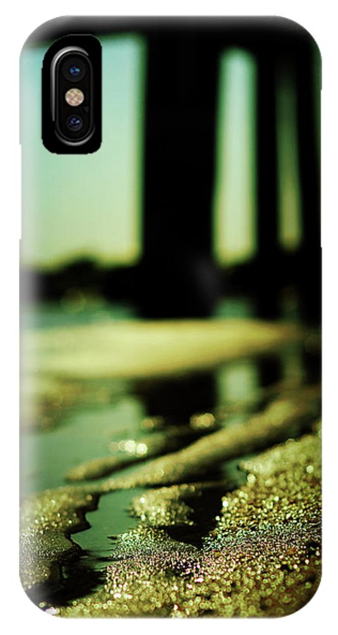 Beach IPhone X Case featuring the photograph Rainbows In The Sand by Rebecca Sherman