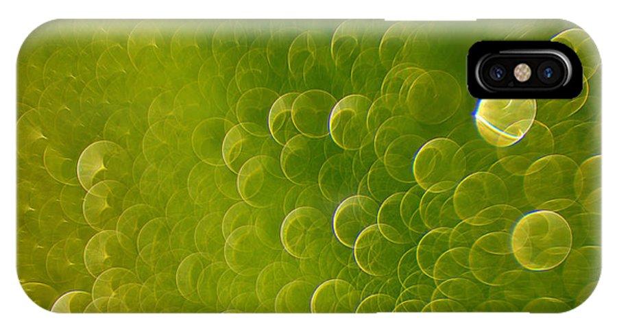 Rain IPhone X Case featuring the photograph Raindrops by Silke Magino