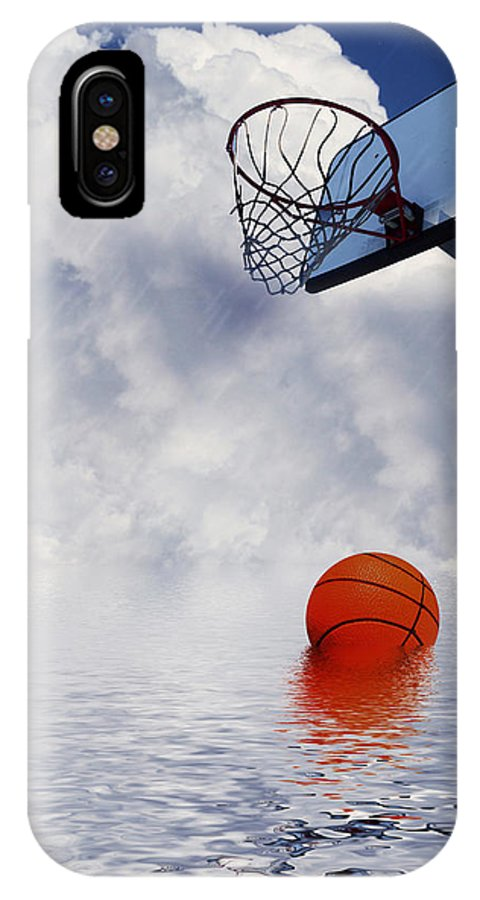 Basketball IPhone X Case featuring the digital art Rained Out Game by Gravityx9  Designs