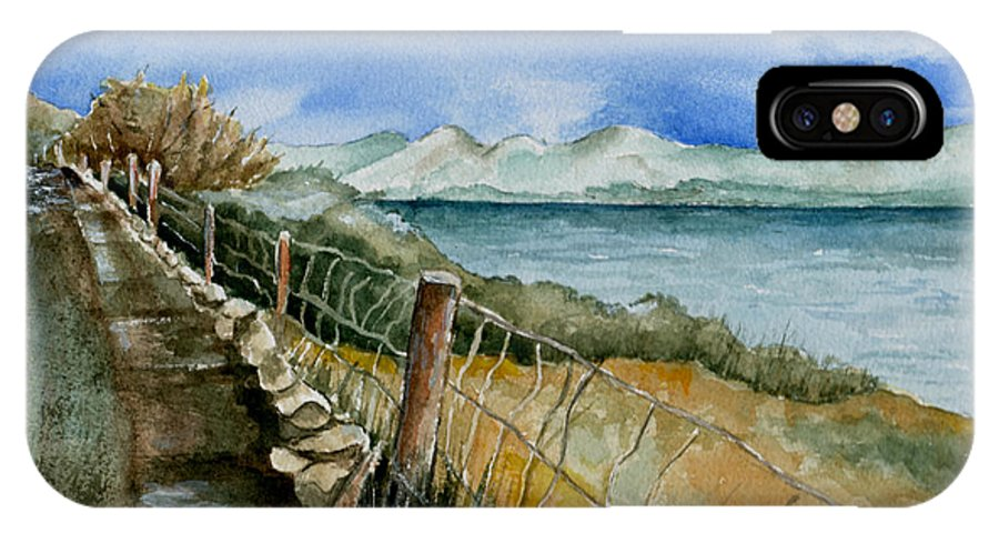 Watercolor IPhone X Case featuring the painting Rambling Walk by Brenda Owen