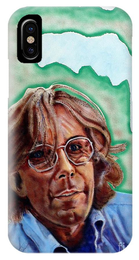 Portrait IPhone X Case featuring the painting Ramsey by Ron Bissett