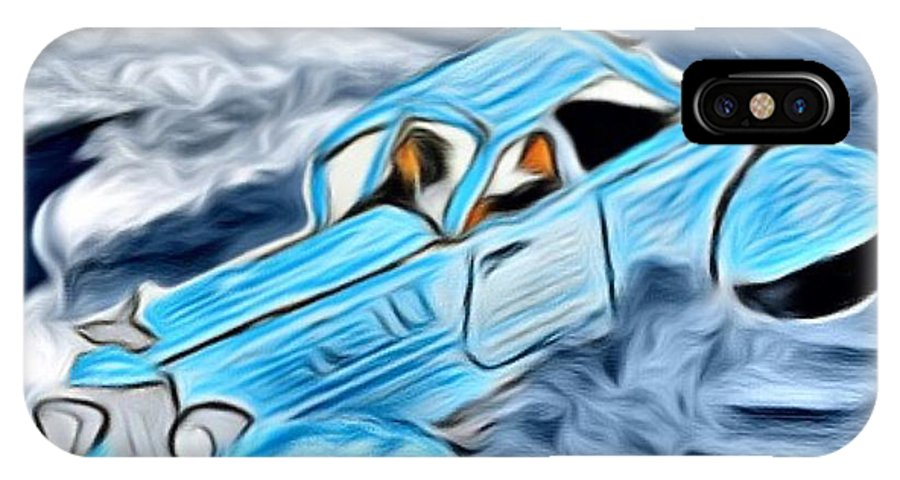 Car IPhone X Case featuring the digital art Ran Outta Gas by Marcia Kaye Rogers