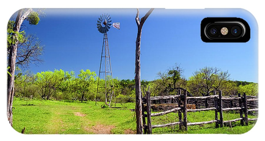 Click Gap IPhone X / XS Case featuring the photograph Ranch At Click Gap II by Greg Reed