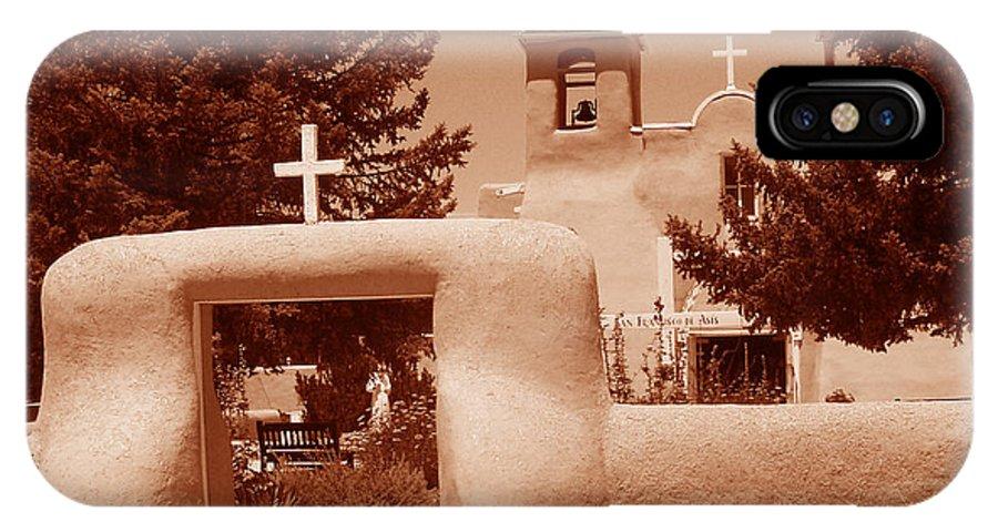 Church IPhone X Case featuring the photograph Ranchos De Taos Church  New Mexico by Wayne Potrafka