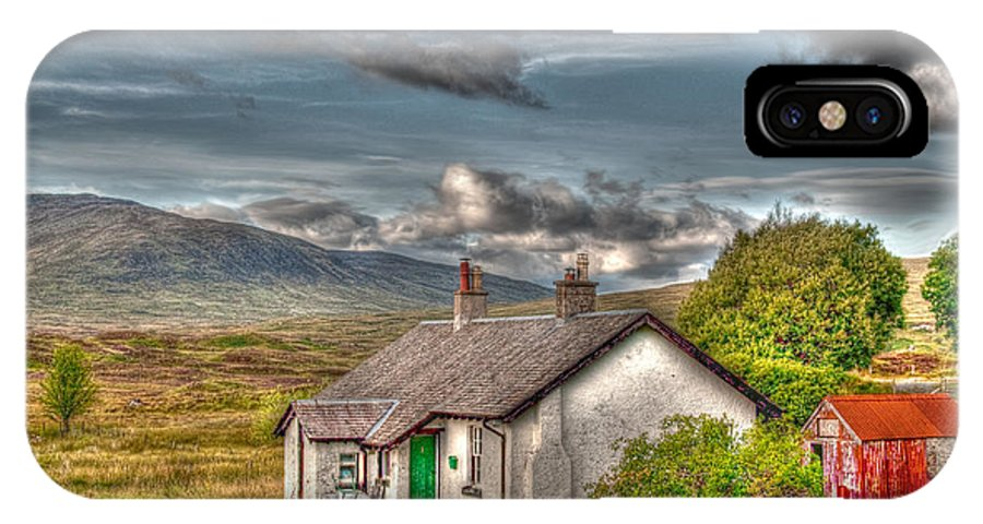 Rannoch IPhone X / XS Case featuring the photograph Rannoch Railway Station View by Chris Thaxter
