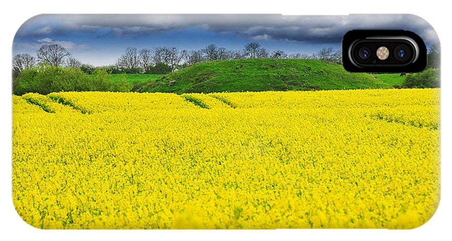 Beautiful IPhone X Case featuring the photograph Rape Field by Svetlana Sewell