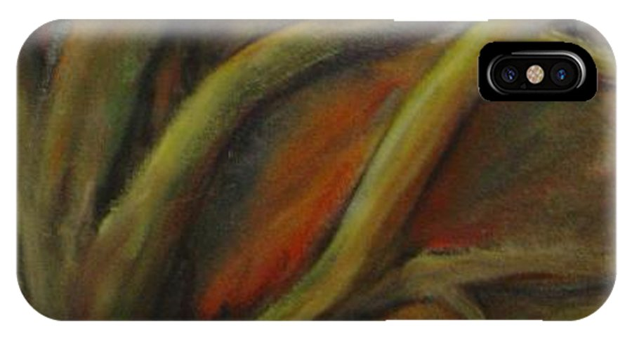 Tree Abstract Painting Expressionist Original Leila Atkinson IPhone X Case featuring the painting Rapt by Leila Atkinson