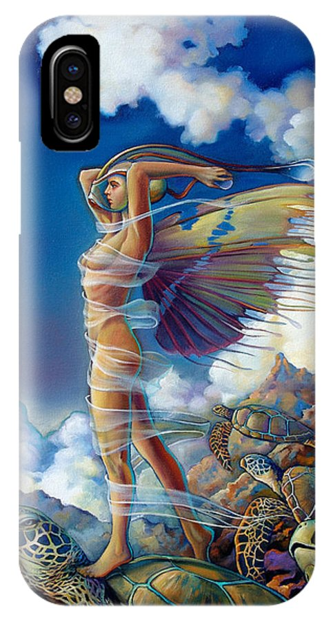 Mermaid IPhone X Case featuring the painting Rapture And The Ecstasea by Patrick Anthony Pierson
