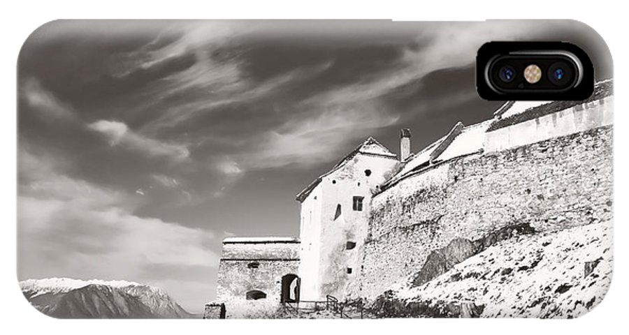 Rasnov IPhone X Case featuring the photograph Rasnov Fortress by Gabriela Insuratelu